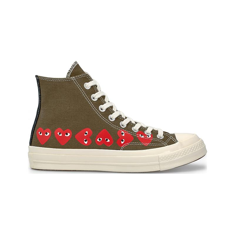 Converse Chuck Taylor All Star 70S Hi Comme DES Garcons Play Heart 162973C