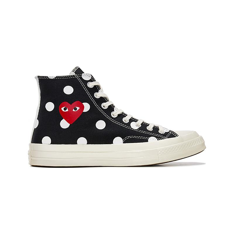 Converse Chuck Taylor All Star 70S Hi Comme DES Garcons Play Polka Dot 157250C