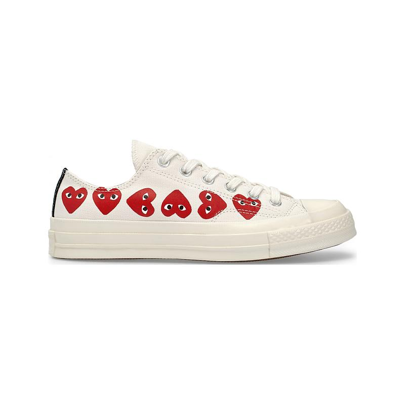 Converse Chuck Taylor All 70S Ox Comme DES Garcons Play Heart 162975C