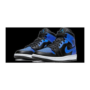Jordan 1 Mid Royal Tumbled Leather 1