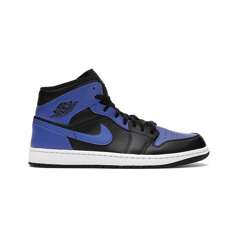 Jordan 1 Mid Royal Tumbled Leather 554724-077