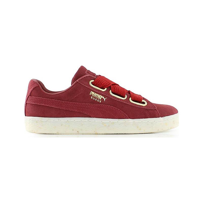 puma suede heart rouge